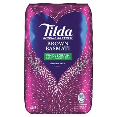 Tilda Brown Basmathi Rice 500g