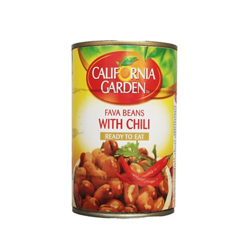 California Garden - fava beans with chilli