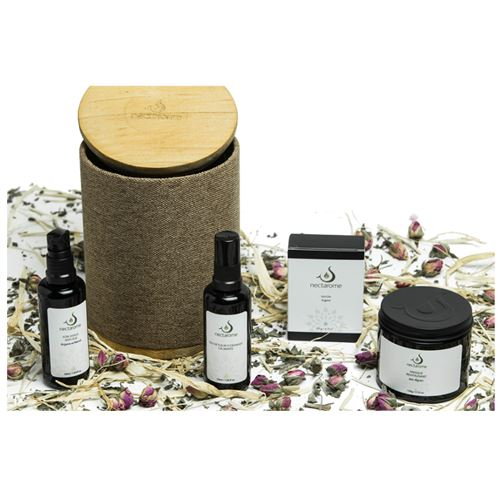 Nectarome - LOVELY-AGE Gift set including Argan soap, Algae mask, Orange blossom water & anti-aging facial care