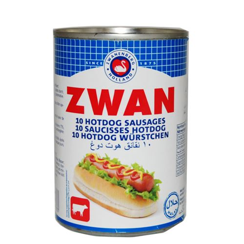 Zwan - 10 Hotdog sausages chicken & beef